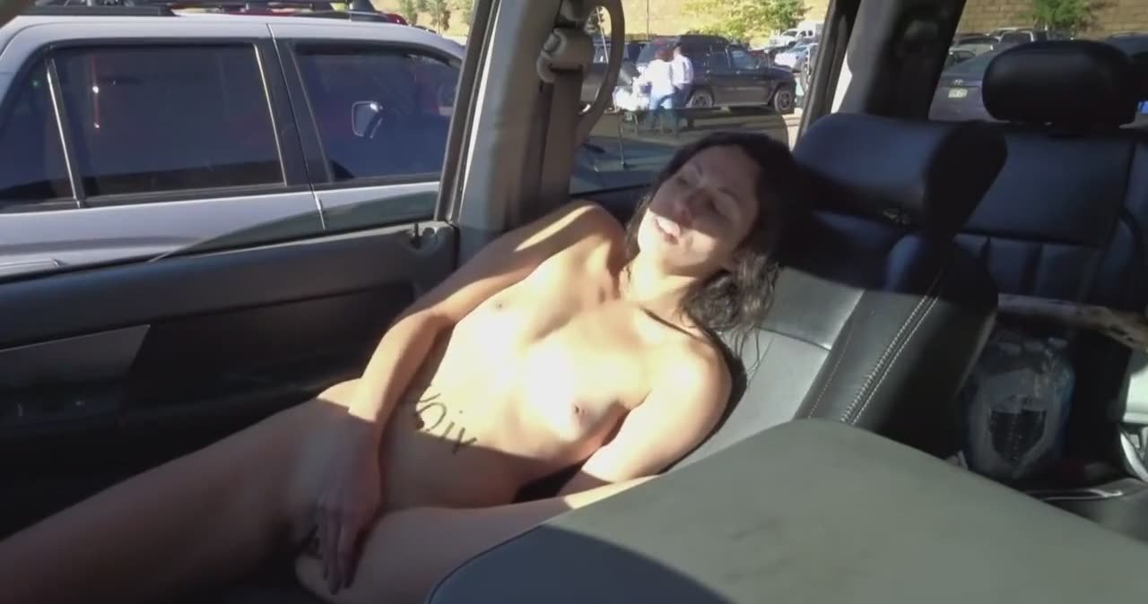 Girl Masturbating The Car