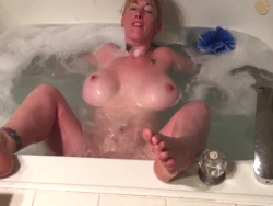 Busty Wife Masturbates In The Tub Before Blowing Her Hubby