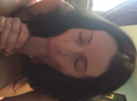 My Brunette GF Sucks Me Off Before Riding My Dick
